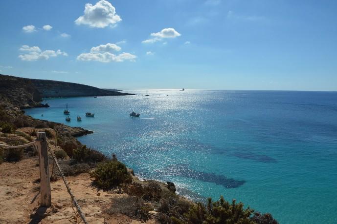 spiaggiadeiconigli_lampedusa_panoramica